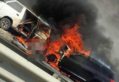 Жуткое ДТП под Владивостоком : два водителя сгорели заживо