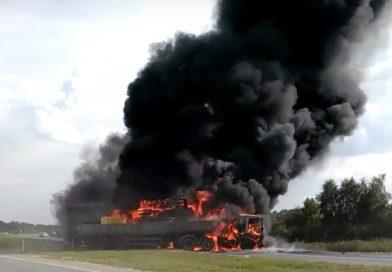 Водитель одной из фур получил ожоги 50% тела. Новые ВИДЕО и подробности огненного ДТП