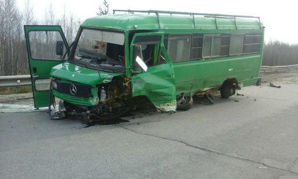 """ДТП под Нефтеюганском автобус """"Мерседес"""""""