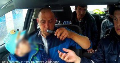 Пьяный отец прокатился с сыном по Тюмени