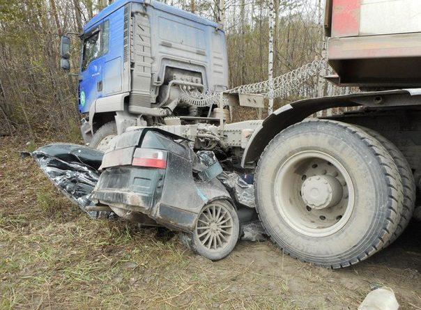 ДТП Пыть-Ях десятка под грузовиком
