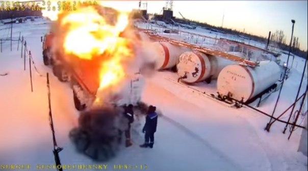 взрыв цистерны в Густореченском