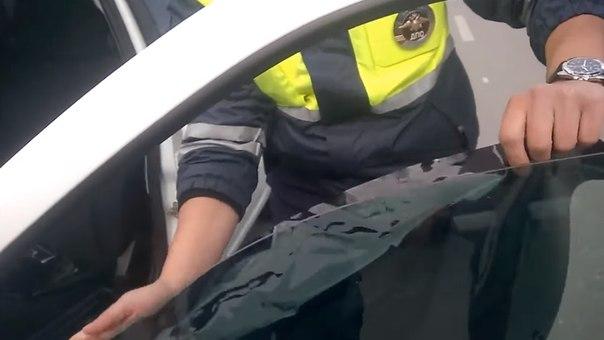 ДПС наклеили тонировку и оштрафовали