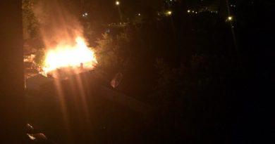пожар на Доме Обороны