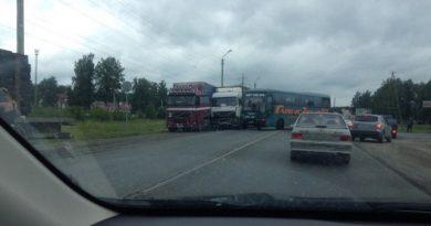 ДТП автобуса и фур в Богандинке