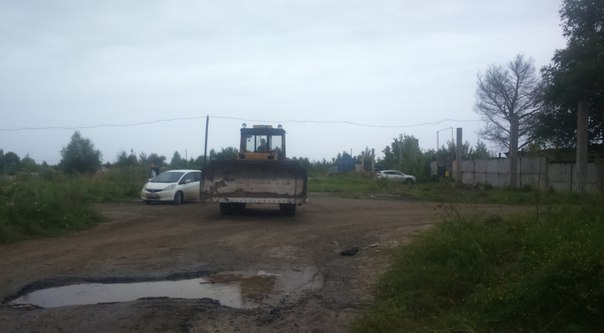 бульдозер задавил в Тобольске