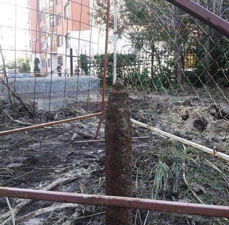 снаряд в центре Тюмени