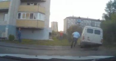 погоня за УАЗ в Тюмени