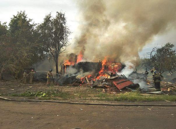 пожар дом Рабочий поселок