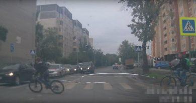 велосипедист под Мицубиси