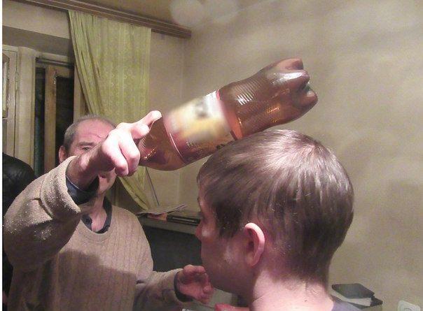 убил бутылкой