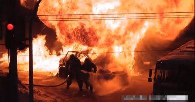 взорвался автомобиль Челябинск