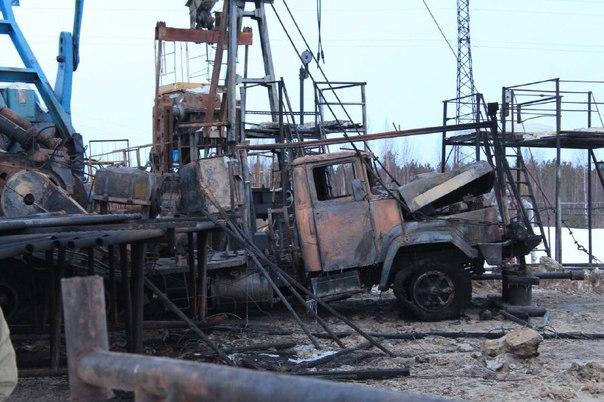 пожар месторождение ХМАО
