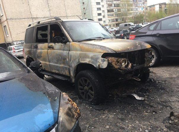 сгорел УАЗ