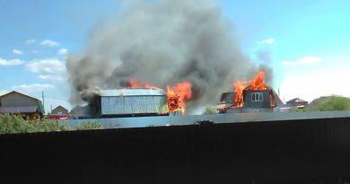 пожар русское поле