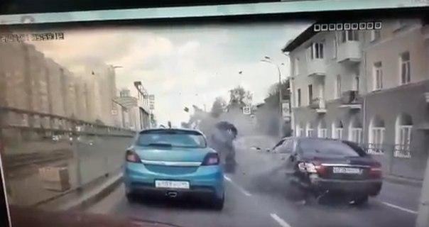 полицейский разбился