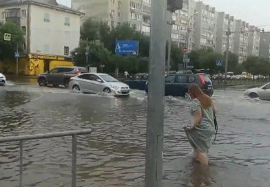 ливень в Тюмени