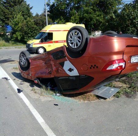 такси авария в Тюмени