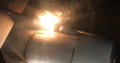 загорелся двигатель у самолета