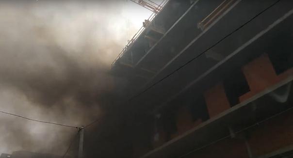 пожар в центре Тюмени