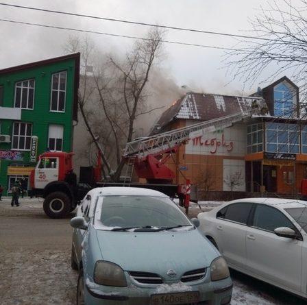 горит ресторан Тебриз