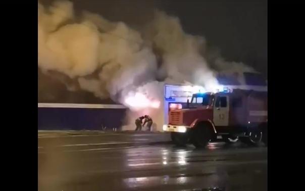 пожар на Червишевском