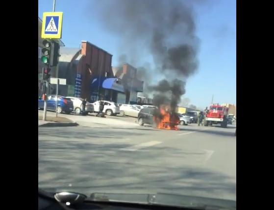 загорелся на Товарном шоссе