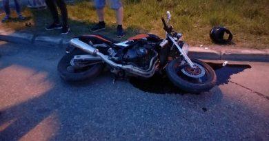 Три байкера слетели с мотоциклов в минувший понедельник на дорогах Тюменской области