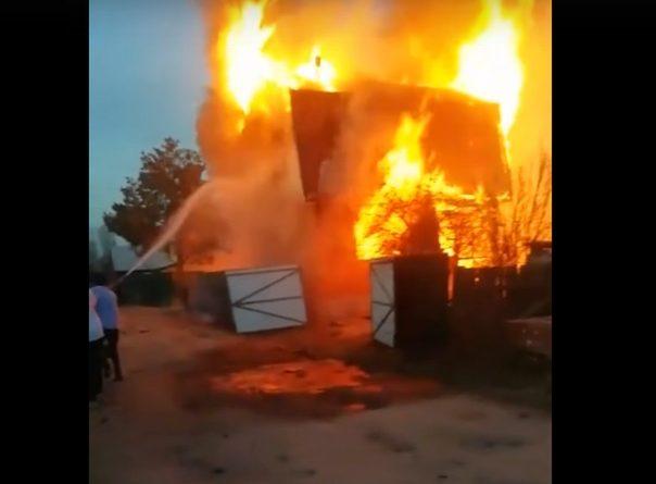 пожар на тюменских дачах