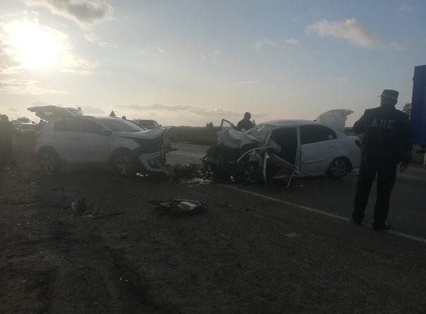 Три человека погибли в лобовой аварии под Курганом: все они сидели на задних местах