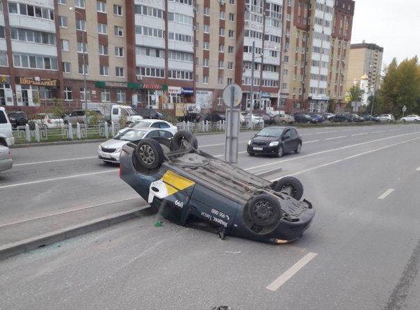 На Лесобазе перевернулся Яндекс