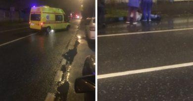 Вечером на Пархоменко легковушка сбила пьяного пешехода и уехала. Идет розыск
