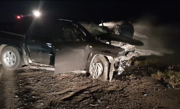 В жуткой аварии под Исетским погибли два человека