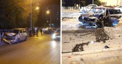 """Подробности жесткого """"замеса"""" на Стреле: автомобили вдребезги, четыре человека травмированы"""