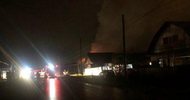 Вечером в Боровском сгорел частный дом