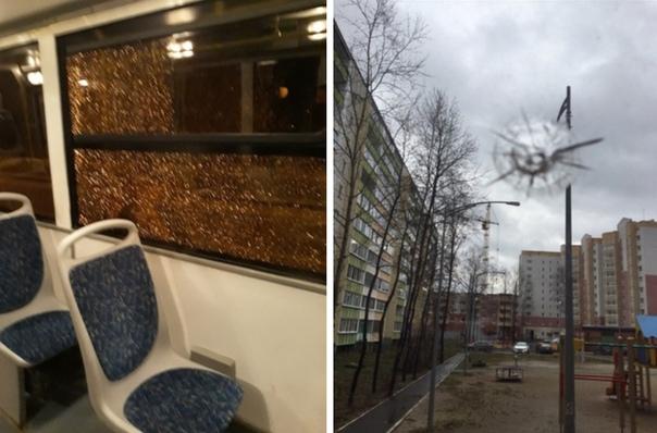 В Тобольске 18-летний юноша поспорил с другом и кинул в окно автобуса камень