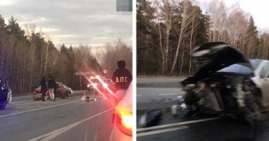 Жесткая авария на Ялуторовском тракте: серьезно деформированы три автомобиля