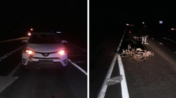 На Тобольском тракте водитель RAV4 сбила 11-летнего мальчика на мопеде