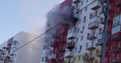 """""""Ребенок зажигалкой баловался"""". Пожар на 14-м этаже высотки на Пермякова"""