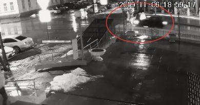 Момент наезда на пешехода в центре Тюмени попал на ВИДЕО