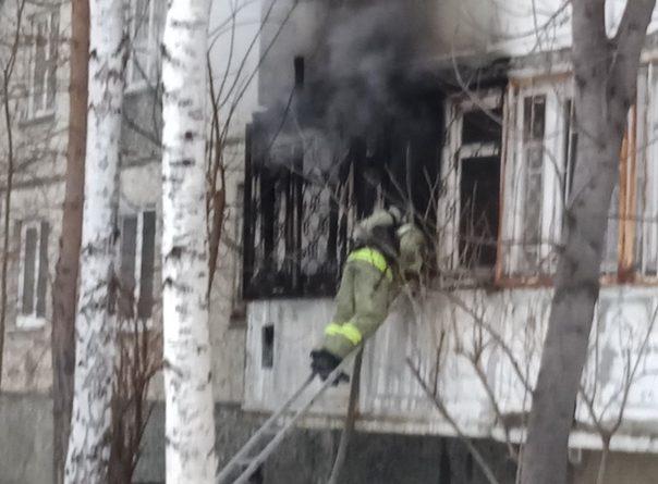 Пожар в девятиэтажке на Пермякова. ФОТО, ВИДЕО, комментарии очевидцев