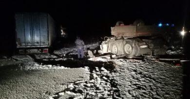 Крупное ДТП под Талицей: сошлись два грузовика, погиб один водитель