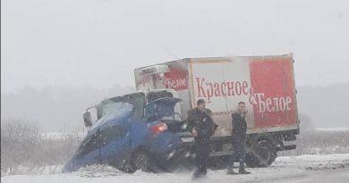 """В аварии с фургоном на Ялуторовском тракте погиб водитель """"Логана"""""""