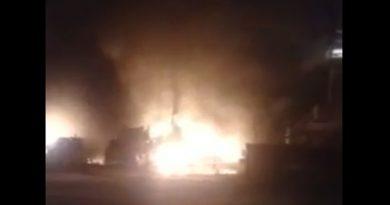"""""""Все горит, двое помбуров там остались..."""" Очевидец выложил видео пожара на ямальском месторождении"""