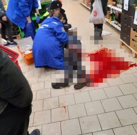 Поножовщина в Антипино: раненного в ногу мужчину перенесли в магазин