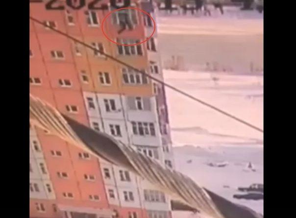 В Излучинске девушка выпала с 9-го этажа в сугроб и выжила. ВИДЕО