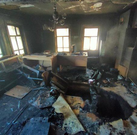 Известно, что загорелся опорный пункт полиции.