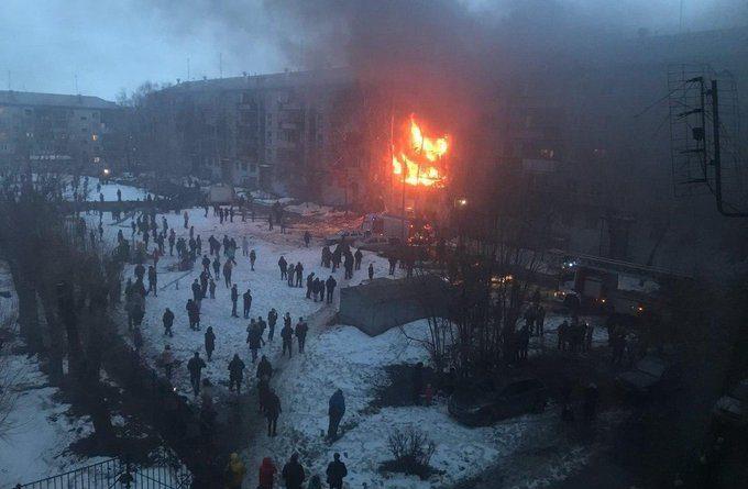 Мощный взрыв в жилой пятиэтажке в Магнитогорске. ФОТО, ВИДЕО очевидцев
