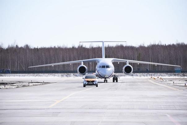Первый самолет приземлился на аэродроме в Тобольске. ФОТО, ВИДЕО