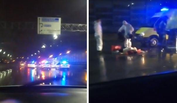 Ночью на объездной сбили насмерть пешехода, водитель автомобиля скрылся